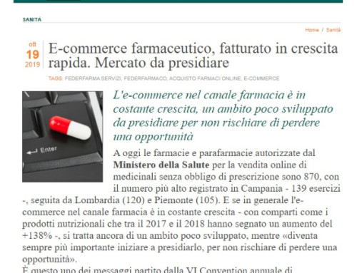 Aumento del fatturato dell'E-commerce farmaceutico. Una nuova opportunità per le farmacie?
